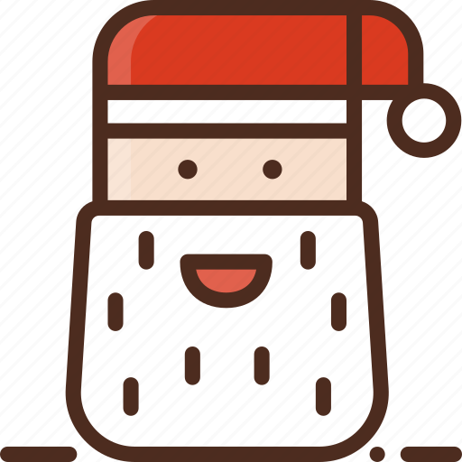 christmas, claus, decoration, face, holiday, santa, winter icon