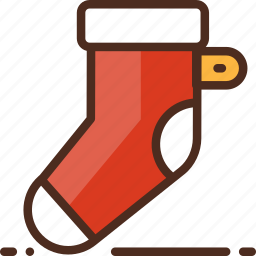 christmas, decoration, holiday, socks, winter, xmas icon