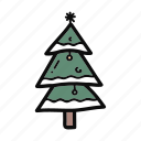 christmas, decoration, doodle, handdrawn, nature, pine, tree icon