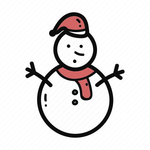 christmas, doodle, handdrawn, snow, snowman icon