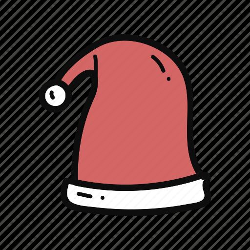 christmas, doodle, handdrawn, hat, head, santaclaus icon