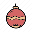 ball, bell, christmas, decoration, doodle, handdrawn icon