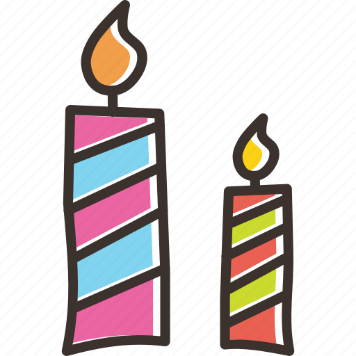 birthday, candle, christmas, light, new year icon