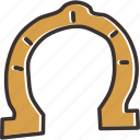 fortune, horseshoe, luck icon