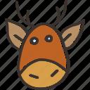 christmas, new year, rudolph, santa, rudolf, reindeer, winter icon