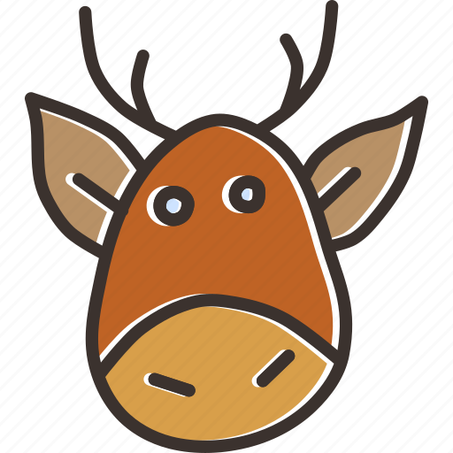 christmas, claus, deer, new year, rein, rudolph, santa icon