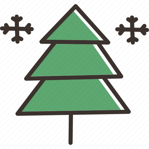 christmas, december, holiday, new year, snow, tree, winter icon