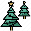 christmas, decoration, forest, nature, star, tools, tree, trees, utensils, woods icon