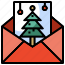 card, christmas, greeting, greetings, letter, pine, tree, xmas icon