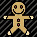 bakery, cookie, dessert, food, gingerbread, man, restaurant, sweet icon