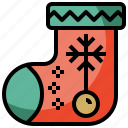 adornment, christmas, clothes, clothing, decoration, fashion, garment, ornament, sock, xmas icon