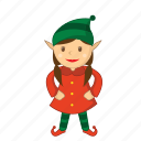 cartoon, christmas, elves icon