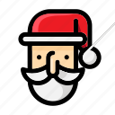 christmas, claus, decoration, gift, red, santa, winter icon