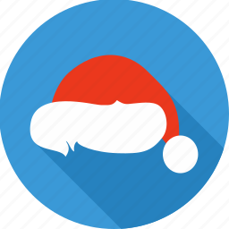 christmas, claus, hat, santa, winter, woollen, xmas icon