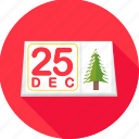 calendar, christmas, date, day, december, merry, twenty fifth icon