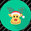 christmas, deer, raindeer, reindeer, rudolf, santa, xmas icon