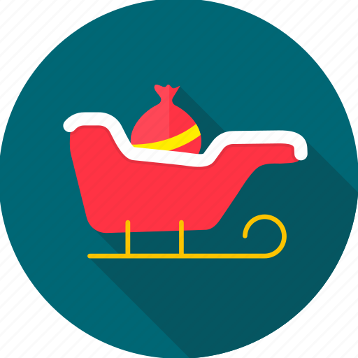 basket, christmas, christmas sleigh, decoration, santa, sleigh, xmas icon