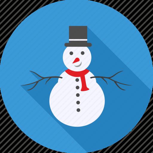 celeberation, christmas, decoration, hat, party, snowman, xmas icon