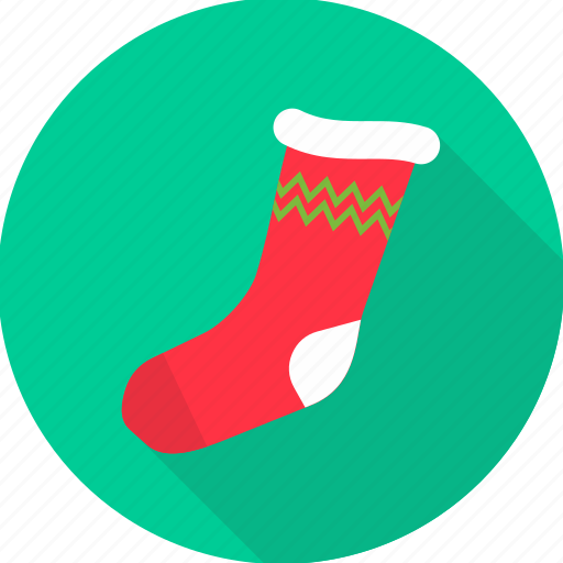 christmas, christmas accessories, cold, socks, stocking, stockings, woollen icon