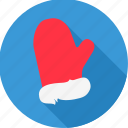 christmas, cold, glove, gloves, hand, santa, xmas icon