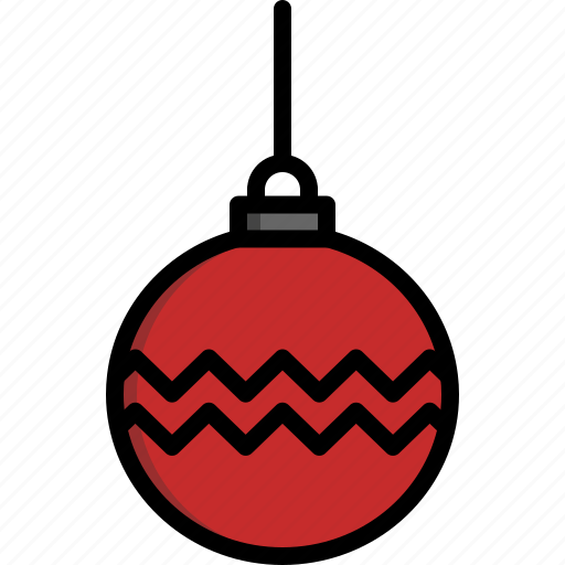 ball, bauble, christmas, christmas tree, decoration, ornament, string icon