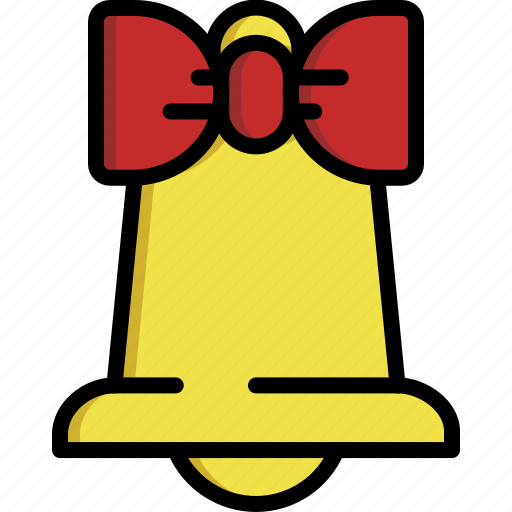alarm, bell, bow, christmas, decoration, music, ribbon icon