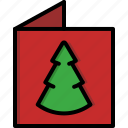 card, christmas, christmas tree, greeting, letter, tree, xmas icon