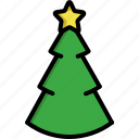 christmas, christmas tree, comet, decoration, pine, star, tree icon