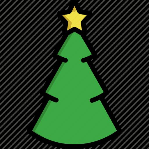 christmas, christmas tree, comet, decoration, pine, star, tree icon