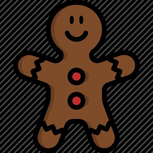 bakery, christmas, cookie, food, gingerbread, man, sweet icon