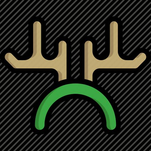 antler, christmas, decoration, ears, horn, ornament, reindeer icon