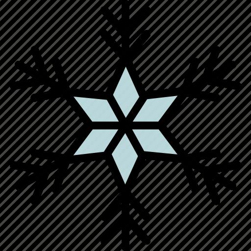 christmas, cold, geometric, ice, snow, snowflake, winter icon