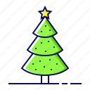 christmas, decoration, holiday, pine, tree
