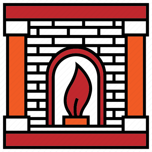 christmas, christmas icon, fireplace, winter icon