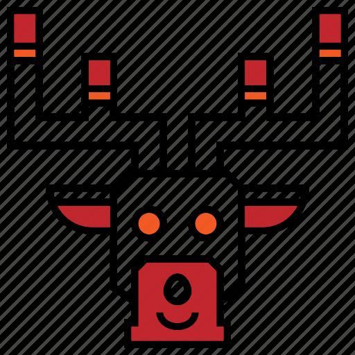 animals, christmas, christmas icon, reindeer icon
