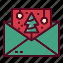christmas, xmas, party, card, invitation icon