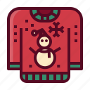 christmas, holiday, sweater, winter, cloth, xmas icon
