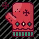 christmas, gloves, knitting, winter, xmas icon