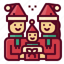 christmas, family, child, parent, people, xmas icon