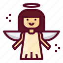 angel, christmas, holy, spirit, xmas icon