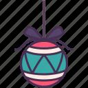 holiday, xmas, new year, ball, decoration, christmas, ribbon