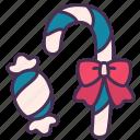 candy, christmas, decoration, holiday, new year, ribbon, stick