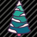 christmas, decoration, holiday, new year, pine, snow, tree