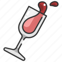 cup, drink, drinking, food, glass, wine, wine glass icon