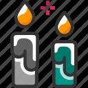 candle, celebration, decoration