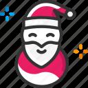 christmas, santa claus icon