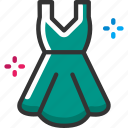 christmas, dress, party icon