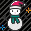 christmas, cold, smowman, winter
