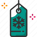 christmas, shopping, tag, winter icon