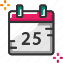 calendar, christmas day, date icon